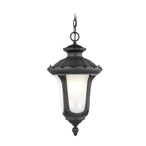 Livex Lighting 7654-04 Oxford 1 Light Outdoor Chain Hang, Black