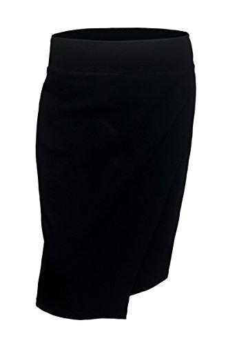 EVogues Plus Size Layered Front Skirt Black - 2X