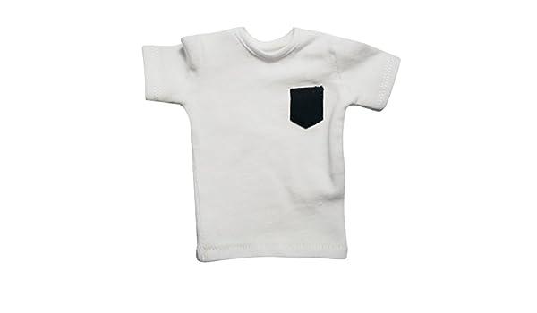 IPOTCH 1/6 T-Shirt Camiseta Top Ropa Traje de Cosplay de Figuras de Acción - Blanco: Amazon.es: Juguetes y juegos