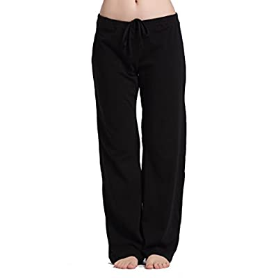 CYZ Womens casual stretch cotton pajama pants simple lounge pants charcoal at Women's Clothing store