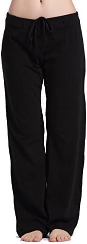 CYZ Womens informal stretch cotton pajama pants easy living room pants charcoal