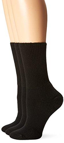Thorlos Walking Heels - Thorlos Unisex WX Walking Thick Padded Crew Sock, Black (3 Pack), Medium