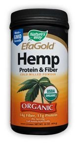 Nature's Way Hemp Protein and Fiber Powder, 16 Ounce