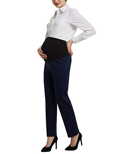 GINKANA Womens Maternity Pants Bootcut Stretch Dress Pants Trousers for Work ()