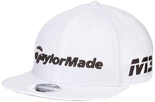 TaylorMade 2018 New Era Tour 9Fifty Hat Adjustable Mens Snapback Golf Cap White/Grey