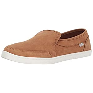 Sanuk Women's Pair O Dice Leather Loafer Flat, Tobacco Brown, 07 M US