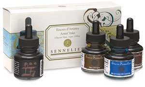 Sennelieir Artists Ink Set of 4 Colors by SENNELIER