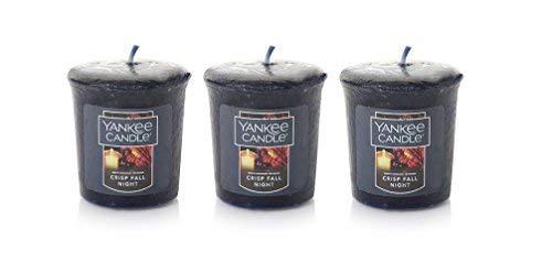 (Lot of 3 Yankee Candle CRISP FALL NIGHT Sampler Votive Candle 1.75 oz )
