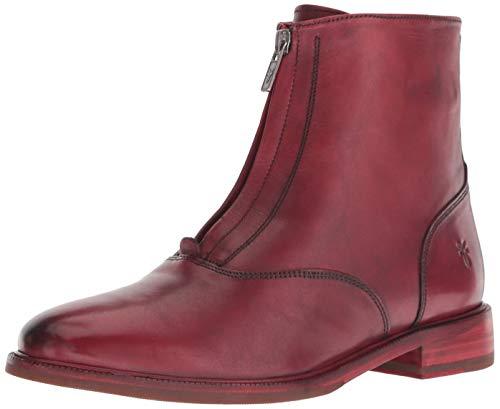 FRYE Women's Kelly Front Zip Bootie Ankle Boot, red, 8.5 M US