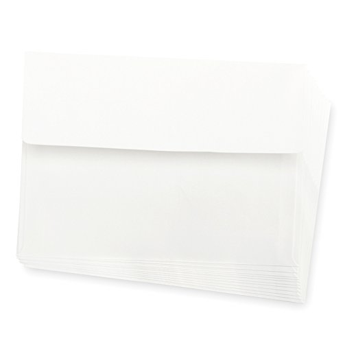 Darice Smooth A7 Envelopes, 5.25 x 7.25-Inch, White, 50-Pack