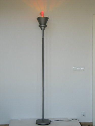 Lampe sur pied avec effet feu lampe halogène de boule en