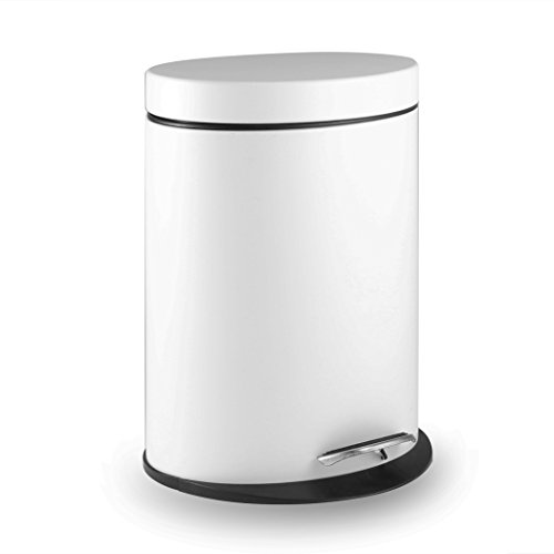 white bathroom trash can with lid - 8