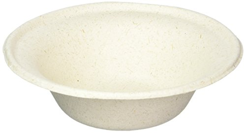 - 100% compostable and biodegradable DISPOSABLE 12oz BOWLS - (125 COUNT), made from bamboo & sugar cane, excellent strength