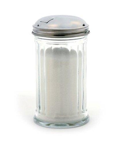 Tzipco's Flip Cap Glass Sugar Dispenser 12 (Glass Sugar Pourer)