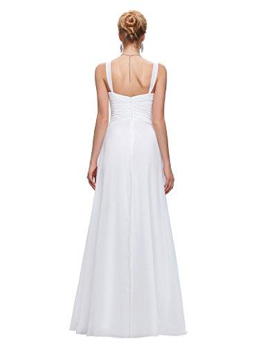Long Chiffon White Sweetheart Ball 14 Gown Dresses Bridesmaid ST65 Size qUvZvtw