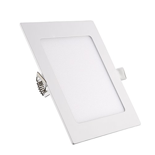 B-right 18W 8-inch Square LED Panel Light, 140W Equivalent, 1400lm Ultra-thin 3000K Warm White LED Recessed Ceiling Lights for Home Office Commercial Lighting by B-right