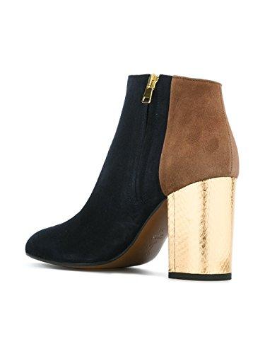 Bleu Marni À TCMSV19C08LS019ZI759 Suède Femme Chaussures Talons Marron OwgEnqfZxw