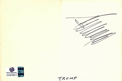 Donald Trump Signed Autographed 4x6 Paper Cut President GV876911 from Cardboard Legends Online