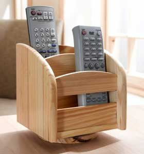 Pine Wooden Remote Control Holder Amazon Co Uk Kitchen
