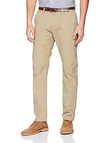38 Tom 34 36 11018 W38 Pantaloni Tailor Uomo taglia Chino Marrone Essential Produttore Chinchilla Casual l34 Solid aaqr0