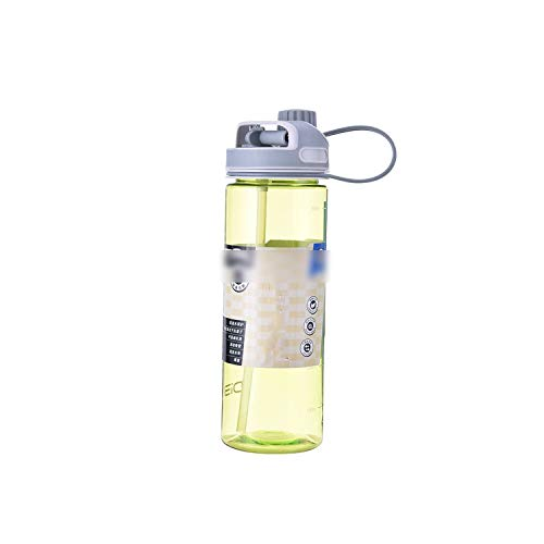 - one- 550Ml Straw Water Bottle Plastic Portable Creative Sports Cup Student Conveniently Leak Proof Drinking Bottles,Green