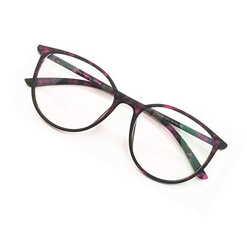 (Reading Glasses - Blue Light Blocking - Round Women Men (Violet Tortoise, 0))