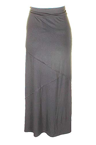(Style & Co. Womens Long Casual Maxi Skirt Gray M)