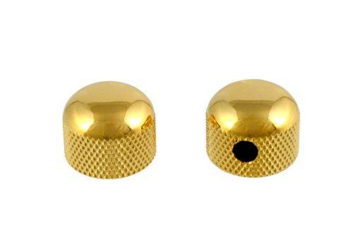 Allparts MK-3315-002 Gold Mini Dome Knob Set
