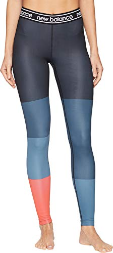 New Balance Womens Comfort Pant - New Balance Women's Printed Accelerate Tights Flame/Black/Petrol X-Large 27 27