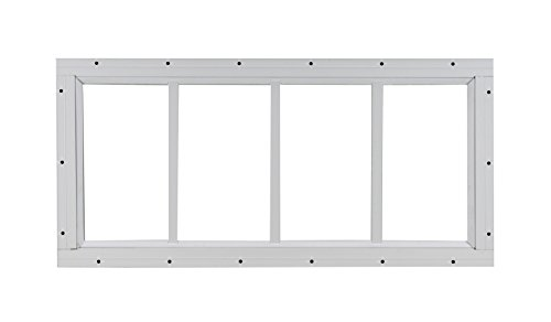Shed Transom Window 10'' X 23'' White Flush by Shed Windows and More