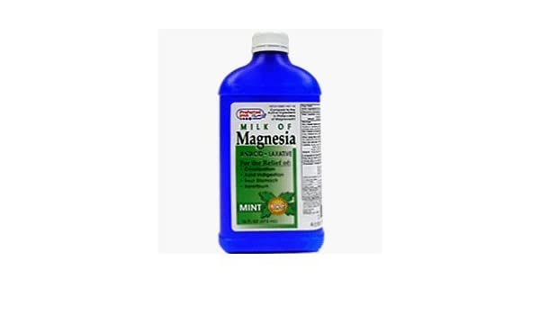 Amazon.com: Milk Of Magnesia Liquid Mint 16 Oz by PREFFERED PLUS PRODUCTS: Health & Personal Care