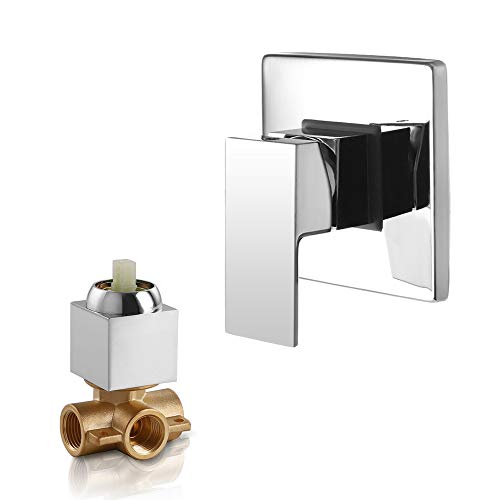 Wall Shower Mount Valve (Dr Faucet Wall Mount Shower Mixer Water Mixer Valve and Trim Kit, Shower Faucet Valve Bathroom Faucet Valve Trim Dr-1500)