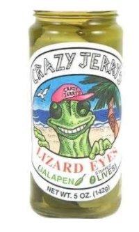 Crazy Jerry's Lizard Eyes Jalapeno Stuffed Olives, 5 oz - Olives Jalapeno Stuffed Green