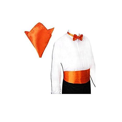 Fajín + corbata + pañuelo Set - TOOGOO (R) satinado Tuxedo fajín + ...