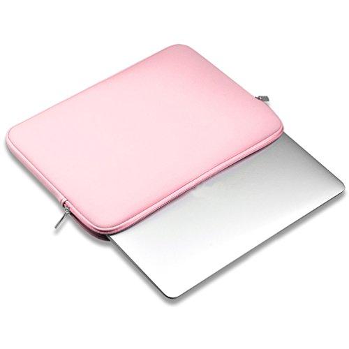 YiJee Fundas para Portatil Funda Blanda Bolso Sleeve para Ordenador Portátil 12 Pulgada Pink