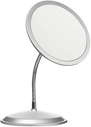 Double Vision Gooseneck Vanity Wall Mount Mirror 5X 10X Magnification, Made in the USA