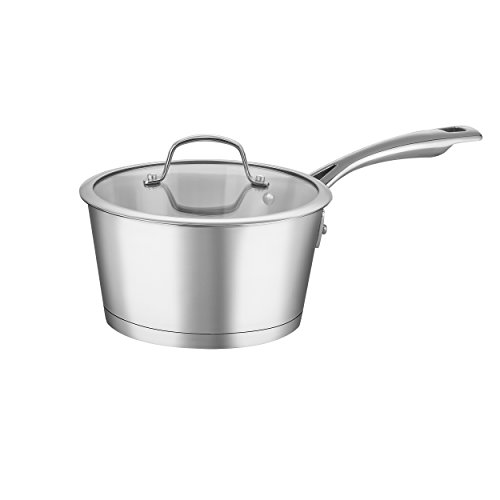 Advantage Stainless Steel Skillet - Cuisinart 72I192-18 Conical Stainless Steel Saucepan with Cover, Medium