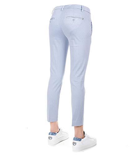 Dondup Dp066fs0174ptd858 Coton Bleu Femme Pantalon fXqfTS