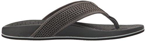 Skechers USA Mens Pelem Emiro Flat Sandal, Charcoal, 9 M US