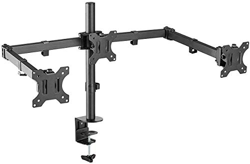 "AVLT-Power Triple 27"" Monitor Desk Stand"