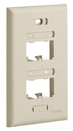 Panduit UICFP4EI 1-Gang 4-Port Faceplate, Electric Ivory