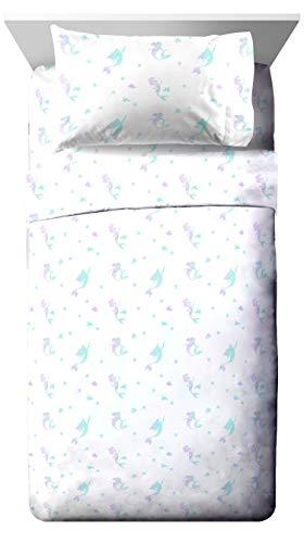 - Jay Franco Disney Little Mermaid Make A Splash Hi Twin Sheet Set - 3 Piece Set Super Soft and Cozy Kid's Bedding Features Ariel - Fade Resistant Microfiber Sheets (Official Disney Product)