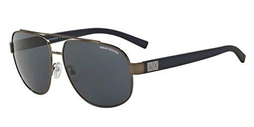 Armani Exchange Mens Sunglasses (AX2019) Gunmetal/Grey Metal - Non-Polarized - - Exchange Sunglass Armani