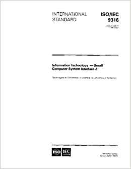 Book ISO/IEC 9316:1995, Information technology - Small Computer System Interface-2