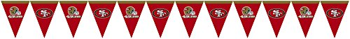 Creative Converting Officially Licensed NFL Plastic Flag Banner, 12', San Francisco 49ers]()