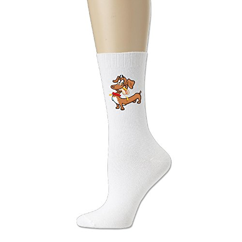 Happy Dachshund With A Hot Dog Ayg Team Comfort Blend Crew Socks