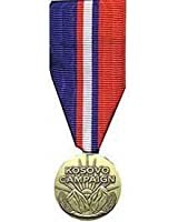 United States Military Armed Forces Mini Medal - Kosovo Campaign