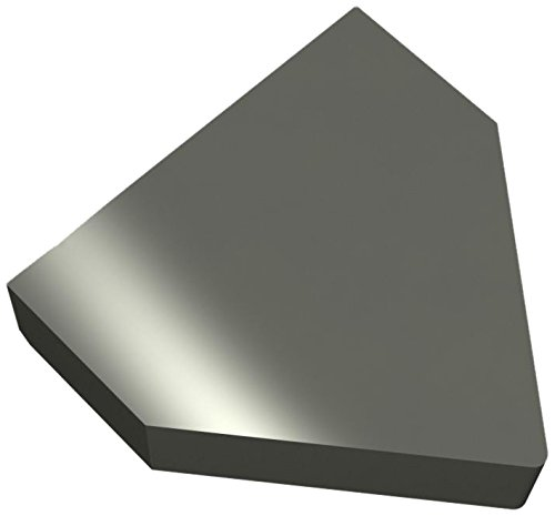 0.031 Radius 0.75 Overall Length 1//4 Thick Triangle with Sides and Radius 1 Width Micro 100 5410 Solid Carbide Blank