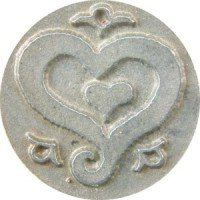 - Curli-que Heart Wax Seal Stamp for Sealing Wax (Resin handle)