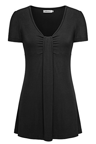 Black Shirts for Women,Helloacc Summer Tops Tunics to Wear With Legging M